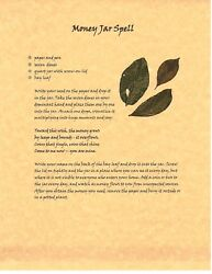 Book Of Shadows Spell Pages Money Jar Spell Wicca Witchcraft Bos