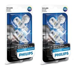 4x Philips 921 Led 6000k Extreme Bright White Back Up Reverse Dome Trunk Lights