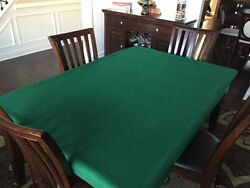 Felt Poker Table Cover For Big Rectangle Table 90 By 120 Or Larger -fs