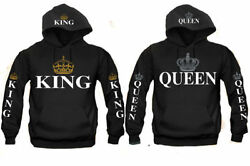 King and Queen Couple matching funny cute Hood Pull Over S-3XL $22.99