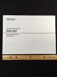 Denon Dra-397 Stereo Receiver Original Owners Manual 24 English Pages Dra397