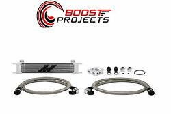 Mishimoto Universal Thermostatic 10 Row Oil Cooler Kit - Silver Mmoc-ut