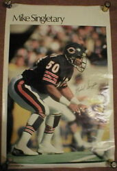 Lot Of 10 1984 Original Mike Singletary Bears Posters Si Sports Illustrated