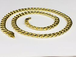 10kt Yellow Gold Miami Cuban Curb Link 18 8 Mm 30 Grams Chain/necklace 210hmc
