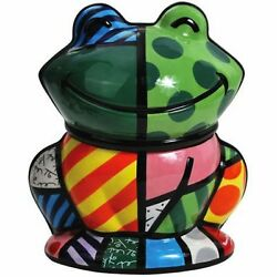 Romero Britto Cookie Jar / Canister Frog New With Tag