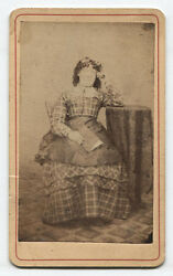 Cdv Woman With Overly Curly Hair Holding Book. Womelsdorf, Pa.