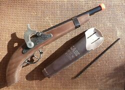 civil war kadet toy cap gun ramrod holster