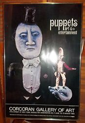 Rare Corcoran Gallery Show Of Puppets Framed Poster -- 1980