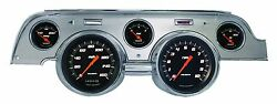 Classic Instruments 67-68 Ford Mustang Gauges Brushed Aluminum Bezel Mu67vsbba