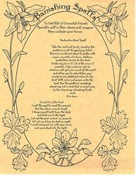 Book Of Shadows Spell Pages Banishing Spell Wicca Witchcraft Bos