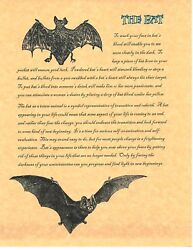 Book Of Shadows Spell Pages The Bat Wicca Witchcraft Bos