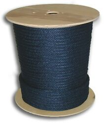 Anchor Rope Dock Line 1/2 X 300and039 Braided 100 Nylon Navy Blue Made In Usa