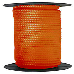 Anchor Rope Dock Line 5/8 X 400and039 Braided 100 Nylon Orange Made In Usa