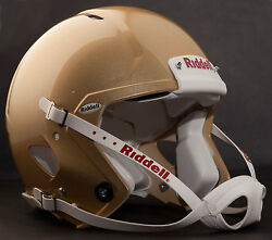 Adult Large Riddell Speed Football Helmet Vegas Gold With S2bd-sw-sp Facemask