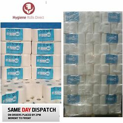480 Rolls White Centrefeed Embossed 2ply Wiper Paper Kitchen Towel Kleenall 40m