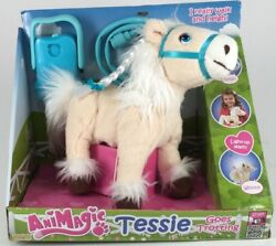 Animagic Blue Tessie Goes Trotting Blonde And White Haired Battery Operated Pony