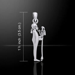 Egyptian God Ptah .925 Sterling Silver Pendant By Peter Stone Fine Jewelry