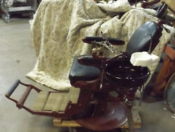 Wilkerson High-low Antique Dental Chair With Ruby Red Glass Bowl