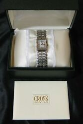 NOS AT Cross Ladies Watch Wristwatch LW6A Gold Silver Tone Swiss Made Stainless $49.95