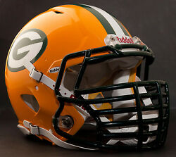 Green Bay Packers Nfl Riddell Speed Football Helmet With Big Grill S2bdc-ht-lw