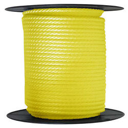 Anchor Rope Dock Line 5/8 X 350and039 Braided 100 Nylon Yellow Made In Usa