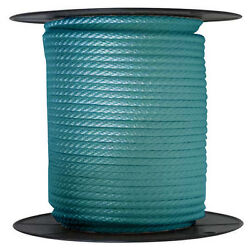 Anchor Rope Dock Line 1/2 X 350and039 Braided 100 Nylon Teal Made In Usa