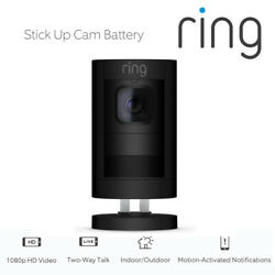 Ring Stick Up Cam Battery Indoor Outdoor Security Hd Camera 2-way Talk Call Bn
