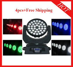 3618w Rgbwap 6 In 1 Led Moving Head Zoom Wash Disco Light 4pcs Free Shipping