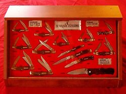 Schrade 14 Knife Display 1990's Uncle Henry And Old Timer W/original Packages Nos