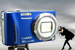 Panasonic Zs10/tz20 Blue Mechanically Reconditioned 16x Zoom-gps-reduces Blur