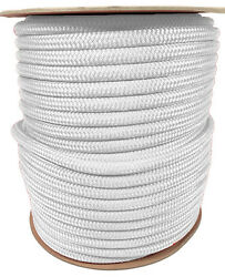 Anchor Rope Dock Line 5/8 X 400and039 Double Braided 100 Nylon White Made In Usa