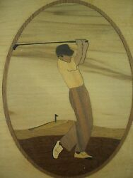 Hudson River Inlay Marquetry Inlay Golfer Jeff Nelson - Tee Green Driver