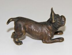 Met042 Austrian Miniature In The Shape Of Dog. Bronze. Vienna. Early 20th Cent.