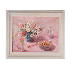 Untitled Floral Still Life By Anthony Sidoni 2002 Signed Oil On Canvas