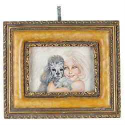 Cuddly And Cute By Anthony Sidoni Signed Oil Painting 9 1/2x11 1/4