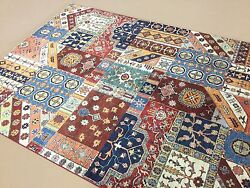 6 X 8 Multicolored Oushak Oriental Area Rug Hand Knotted Geometric Wool