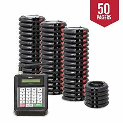 50 Guest Table Waiting Paging System Beeper Restaurant Pagers Paging System New
