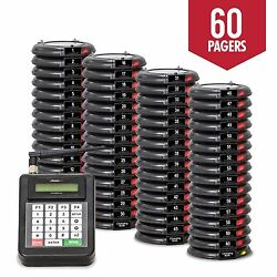 60 Guest Table Waiting Paging System Beeper Restaurant Pagers Paging System New
