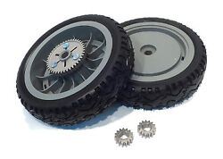 2 Oem Toro Rear Wheels And Gear Pinions For Super Recycler Push Lawn Mower