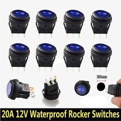10 Pack - Blue Switch - Simple On And Off Accessory Switch - Any Purpose Blue
