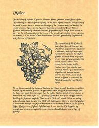 Book Of Shadows Spell Pages Mabon Wicca Witchcraft Bos