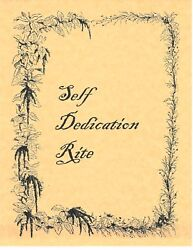 Book Of Shadows Spell Pages Self-dedication Rite Wicca Witchcraft Bos