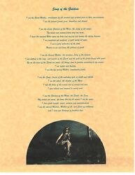 Book Of Shadows Spell Pages Song Of The Goddess Wicca Witchcraft Bos