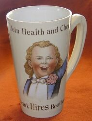 Fabulous Antique Vintage 1890s Hires Root Beer Mug By Villeroy And Boch Mettlach