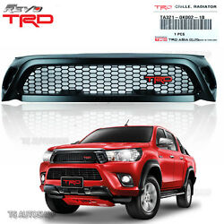 Fit Toyota Hilux Revo Sr5 M70 M80 2016 2017 Black Style Front Grill