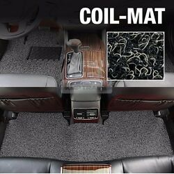 Premium Expandable Side Foot Rest Floor Coil Mats Pad Cover Grey For Hyundai Car