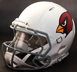 Arizona Cardinals Nfl Authentic Gameday Football Helmet W/ Cu-s2bd-sw Facemask