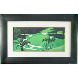 Demaret Hogan Nelson And Snead Exhibition Play By Harry Fredman Signed Giclee