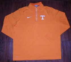 Nike Menand039s Tennessee Volunteers Game Day Half-zip Knit Performance Shirt New