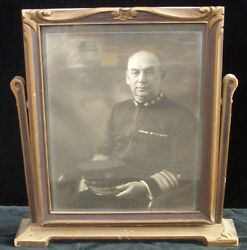 Autographed Photo Of Vice Admiral Charles S. Williams, Wwi Navy Cross Recipient